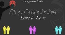 "Anonymous hackera il sito del Family Day: ""Stop Omophobia, love is love"""