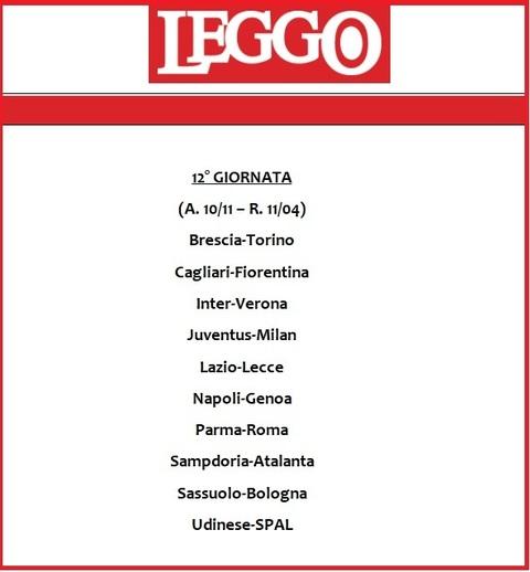 Calendario Juve.Calendario Serie A 2019 20 Tutte Le Giornate Di Campionato