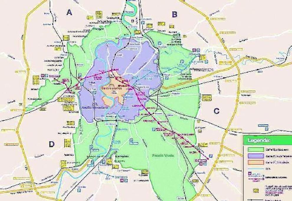 Cartina Dettagliata Roma.Roma Pedaggio Per Chi Entra Nell Anello Ferroviario