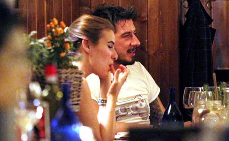 Diana Del Bufalo e Ruffini, cena romantica a Roma. E Bonolis non li saluta... -FOTO
