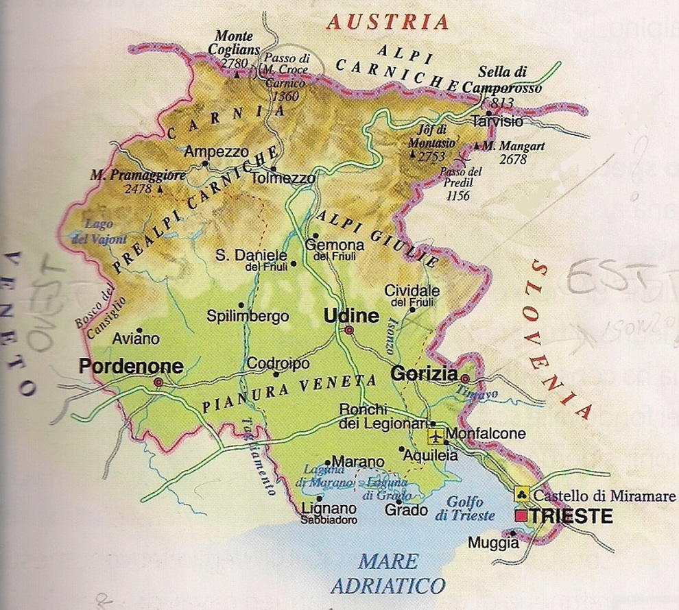 Cartina Geografica Carnia.La Cartina Geografica Della Vergogna Piena Zeppa Di Errori Grossolani