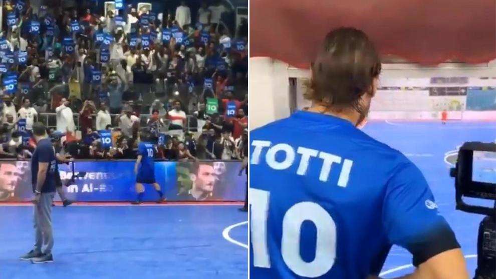 Kuwait, gaffe al torneo di calcio: Totti accolto in campo con l`inno di Forza Italia. -VIDEO-