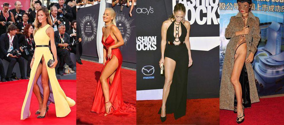 Spacchi estremi e trasparenze sexy: quando la star si mette a nudo