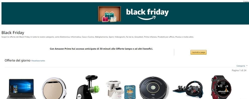 Amazon black friday 2017 ci siamo sconti offerte e for Promozioni amazon
