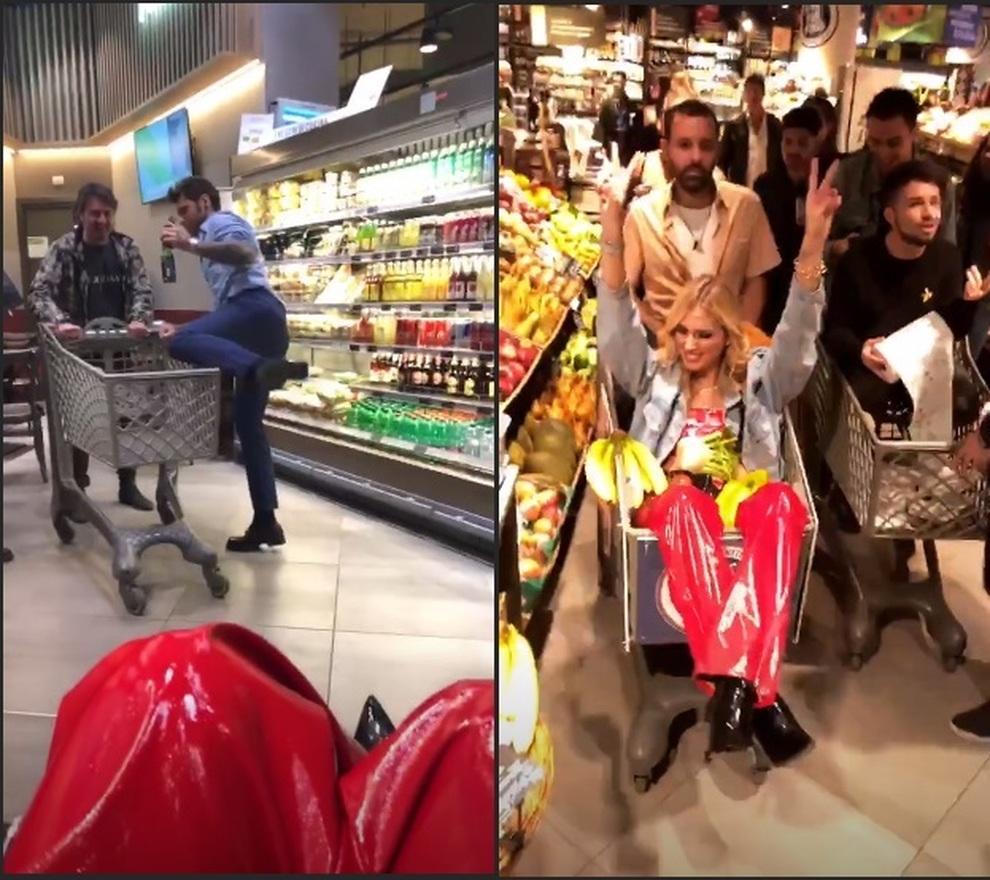 Sorprese Per Un Compleanno fedez, festa a sorpresa in un supermercato poi le scuse e
