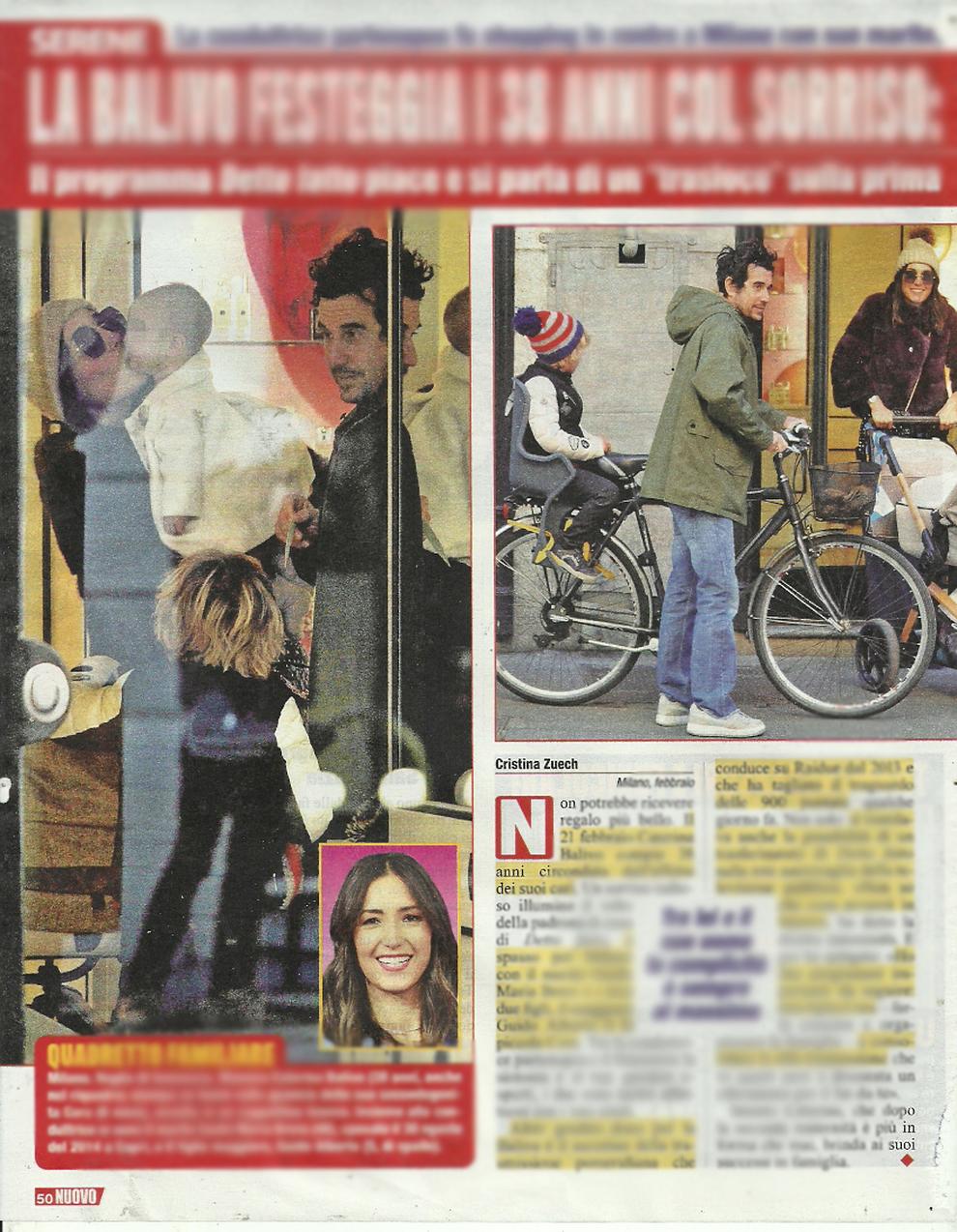 Caterina Balivo col marito Guido Maria Brera e i figli Guido Alberto e Cora  a Milano (Nuovo)