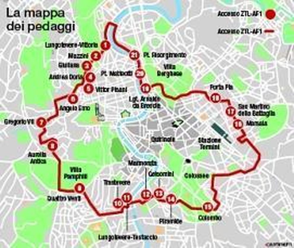 Cartina Ztl Roma.Roma Ztl Vam Per L Ingresso In Centro Stangata Sulle Supercar