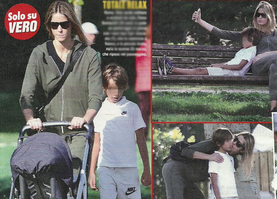 Elena santarelli e bernardo corradi giornata al parco con - Donare un immobile al figlio ...