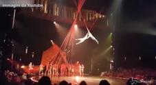 Cirque du Soleil, le immagini dell'incidente mortale di Yann Arnaud