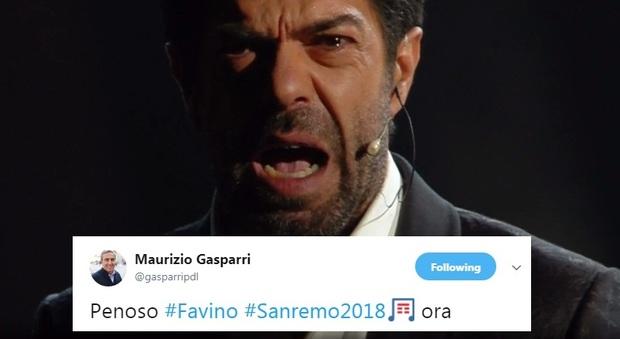 Risultati immagini per festival di sanremo 2018 MONOLOGO FAVINO POLEMICHE