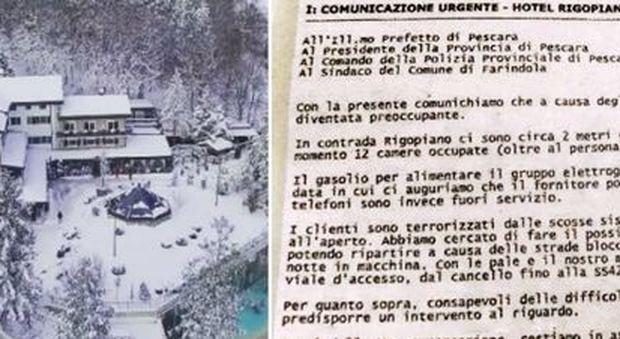 """Rigopiano, alle 17.40 la prefettura di Pescara contattò il direttore dell'Hotel: """"Tutto ok"""""""