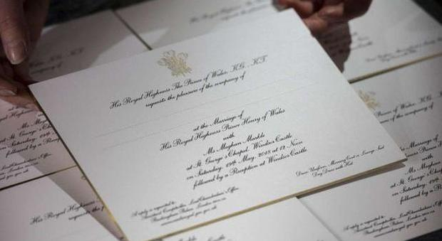 Matrimonio Meghan : Matrimonio harry meghan ecco i preziosissimi inviti al