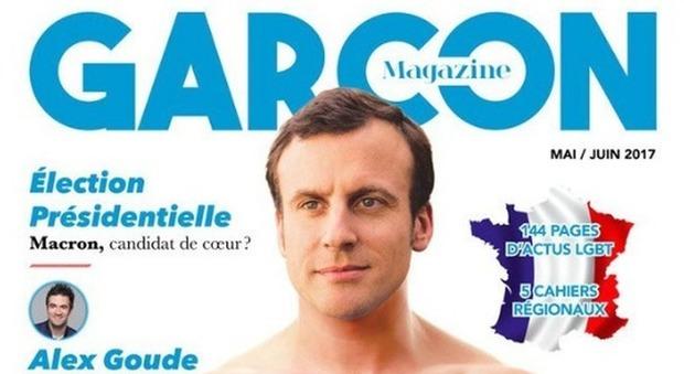 Macron, il presidente nudo nella copertina fake dà