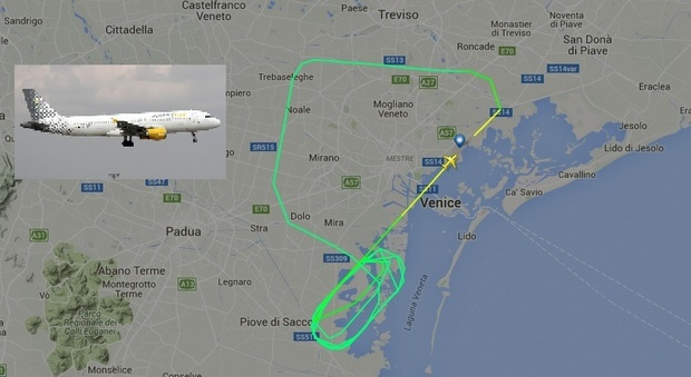 Aereo vueling rompe il motore atterraggio d 39 emergenza for Cambio orario volo da parte della compagnia