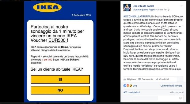 Buono ikea da 500 euro clicca qui state attenti a questo post news - Ikea offre 500 euros ...