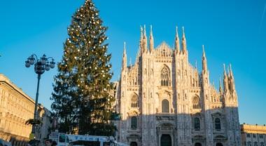 In piazza Duomo l'albero griffato Sky: alto 30 metri, con 100.000 luci led e 700 palline natalizie, si accende il 6 dicembre