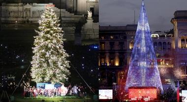 Albero Di Natale Roma 2020.Spelacchio O Il Tecno Albero Di Milano Qual E Il Piu Bello Vota Il Sondaggio