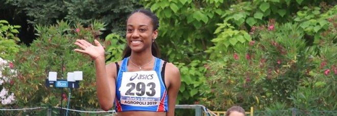 Iapichino salta 6,91, eguagliato il record di mamma Fiona May