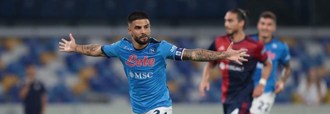 Il Napoli fa 6 su 6 e torna in vetta: al Maradona battuto il Cagliari 2 a 0