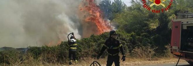 Vasto incendio in Sardegna, le fiamme vicine alle abitazioni