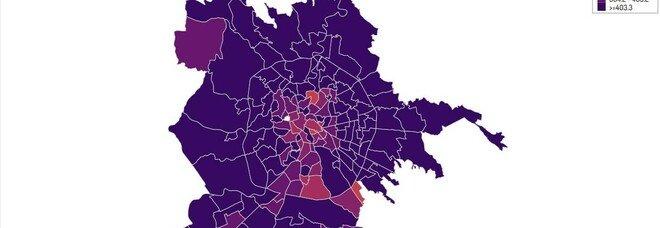 Coronavirus a Roma, la mappa del contagio: Centocelle, Don Bosco e Primavalle le new entry dei quartieri più colpiti