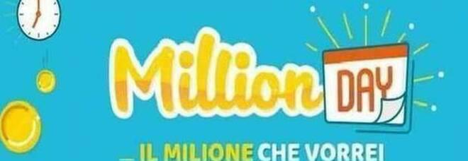 MillionDay, i cinque numeri vincenti di mercoledì 4 agosto 2021