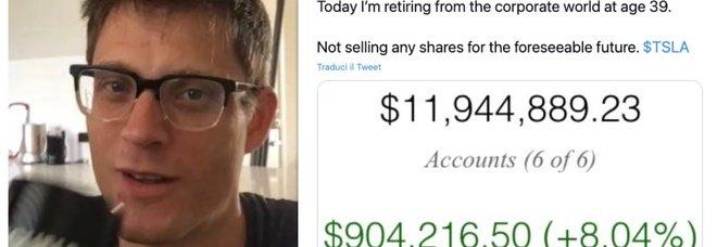 Comprò azioni Tesla nel 2013, ora è milionario: la storia di Jason, in pensione a 39 anni