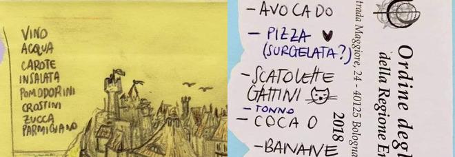 Raccoglie i bigliettini con la lista della spesa dimenticati al supermercato: la collezione è esilarante FOTO