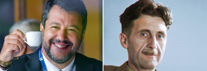 Salvini cita Orwell contro il Dpcm: «Neanche in 1984». Il web si scatena: «Se solo avesse immaginato...»