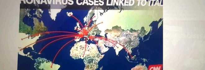 Coronavirus, la CNN sull'Italia: «Focolaio d'Europa». La cartina virale sul web, il governo protesta