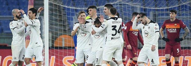 Roma-Spezia 2-4: giallorossi umiliati e fuori dalla Coppa