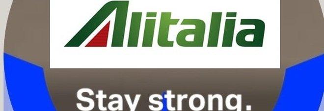«Stay strong», gli assistenti di volo Alitalia scelgono il motivo #WeAreAviation sui profili Facebook
