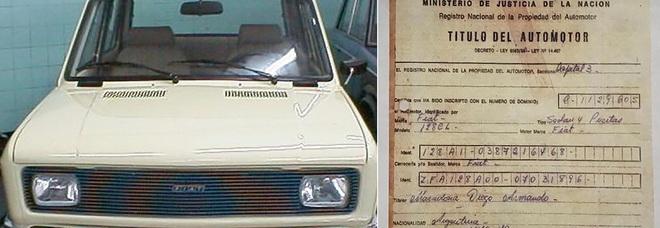 Diego Armando Maradona, la sua prima auto abbandonata in un pollaio: ora potrebbe valere una fortuna
