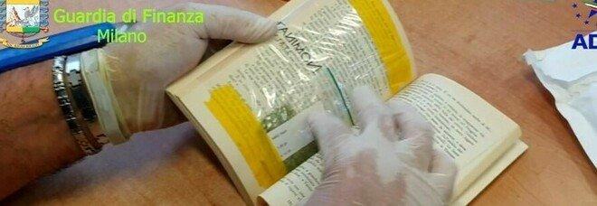 Linate, sequestrati 50 chili di droga: erano nascosti nei libri e negli auguri di Natale