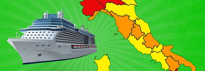 """L'unica """"zona verde"""" d'Italia? Le navi da crociera: dopo il tampone pre-imbarco tutto è permesso"""