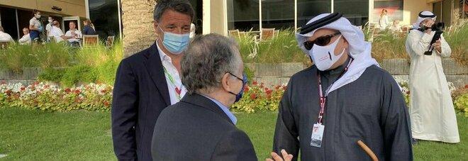Matteo Renzi in Bahrein per il Gp di Formula 1: la foto con il principe Salman ben Hamad Al Khalifa e Jean Todt