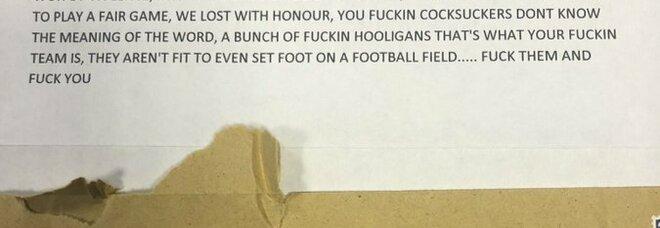 Euro 2020, la lettera ricevuta dall'ambasciata italiana a Londra: «Bastardi, avete truccato la finale»