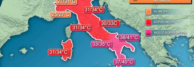 Meteo, l'ondata di caldo africano senza fine: «Punte fino a 44 gradi». Cielo 'ingiallito' al Sud, ecco il motivo