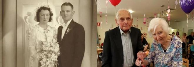 La coppia di ultracentenari festeggia 80 anni di matrimonio. Anche il Parlamento li omaggia
