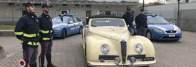 Ritrovata l'Alfa Romeo Mille miglia rubata dai Rom: era in una cascina abbandonata