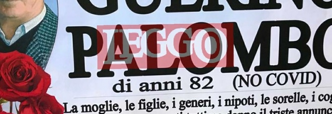«Guerino è morto. Ma non di covid»: il manifesto funebre incredibile appeso fuori dalla chiesa FOTO