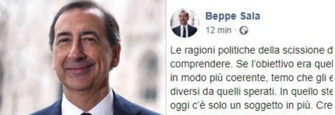 Renzi Lascia il Pd, Beppe Sala attacca: «Matteo fa fatica a stare in una comunità collaborativa»