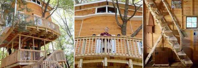 Costruisce una casa sull 39 albero per i nipotini ma for Costruisci una casa per 100k