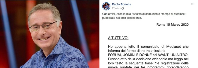 Mediaset sospende Avanti Un Altro, Paolo Bonolis furioso: «Perché interromperci quando il prodotto è completo?»