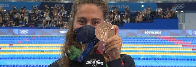 Tokyo 2020, Quadarella bronzo negli 800 sl. «La medaglia del mio riscatto»
