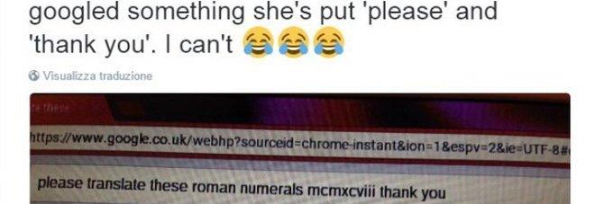 """""""Google tradurresti questo per favore?"""", la ricerca della nonna fa impazzire il web"""