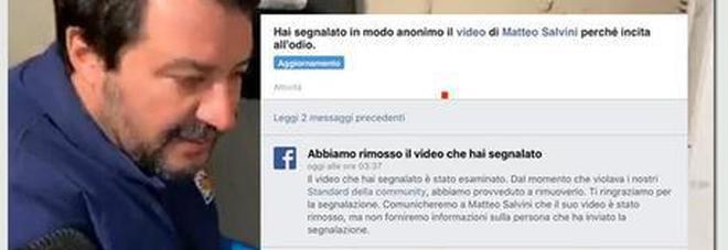 Salvini al citofono, il legale del ragazzo: «Fb ha rimosso il video»