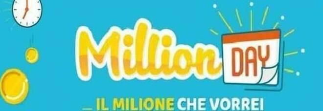 MillionDay, i cinque numeri vincenti di sabato 31 luglio