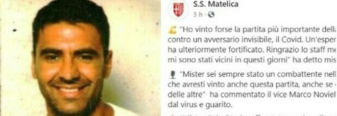 Covid, l'allenatore del Matelica sconfigge il virus: «Ho vinto la partita più importante»