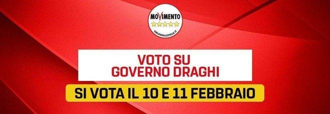 Governo Draghi, il sostegno del M5S passa da Rousseau: «Votazione online il 10 e 11 febbraio»